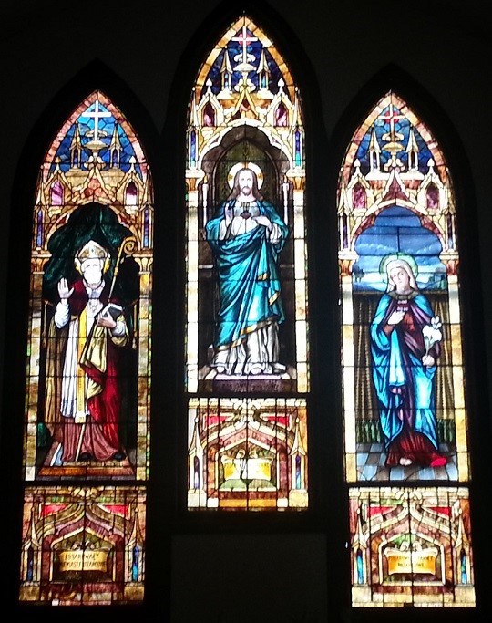 Church stained glass photo